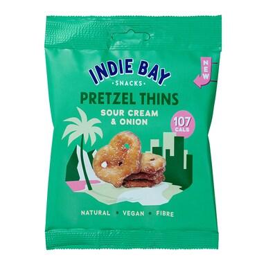 Indie Bay Snacks Pretzel Thins Sour Cream & Onion 24g