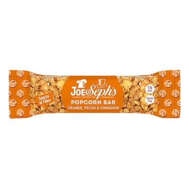 Joe & Sephs Popcorn Bar with Orange, Pecan & Cinnamon 27g