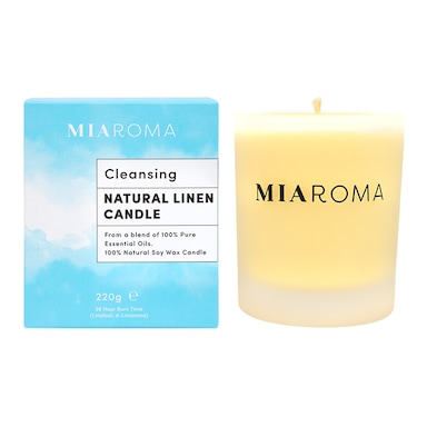 Miaroma Natural Linen Soy Candle 220g