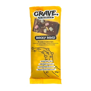 CRAVE Rocky Road Chocolate Bar 90g