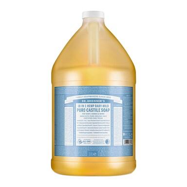 Dr Bronner's Baby Unscented Pure-Castile Liquid Soap 3.79l