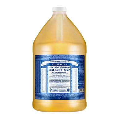 Dr Bronner's Peppermint Pure-Castile Liquid Soap 3.79l