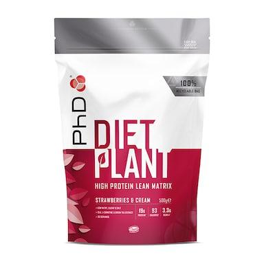 PhD Nutrition Diet Plant Strawberries & Cream 500g