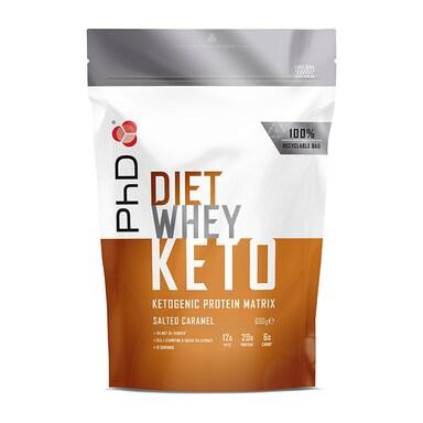 PhD Nutrition Diet Whey Keto Salted Caramel 600g