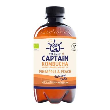 The GUTsy Captain Kombucha Pineapple Kombucha 400ml