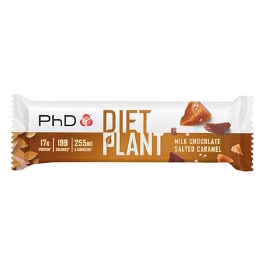 PhD Nutrition Diet Plant Bar Milk Chocolate Salted Caramel 55g