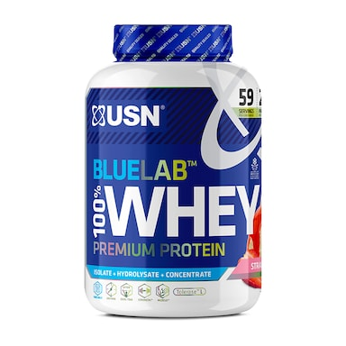 USN Blue Lab Whey Premium Protein Powder Strawberry 2kg