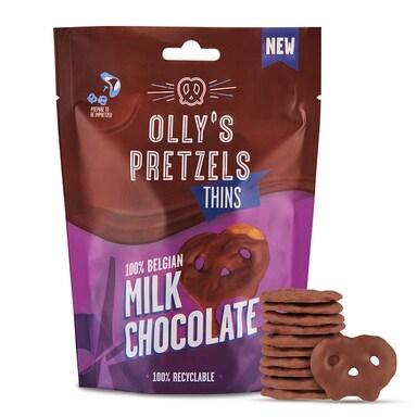 Olly's Pretzel Thins Milk Chocolate 90g