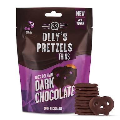 Olly's Pretzel Thins Dark Chocolate 90g