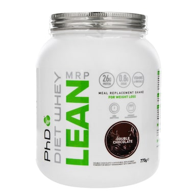 PhD Nutrition Diet Whey Lean Meal Replacement Shake Double Chocolate Flavour 770g