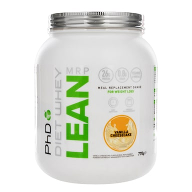 PhD Nutrition Diet Whey Lean Meal Replacement Shake Vanilla Cheesecake Flavour 770g
