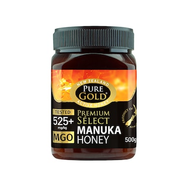 Pure Gold Premium Select Manuka Honey MGO 525 500g
