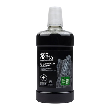 Ecodenta Extra Whitening Mouthwash with Black Charcoal 500ml