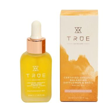 True Skincare Organic Balancing Safflower & Basil Facial Oil 30ml