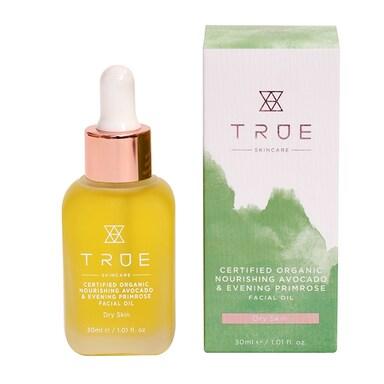 True Skincare Organic Nourishing Avocado & Evening Primrose Facial Oil 30ml