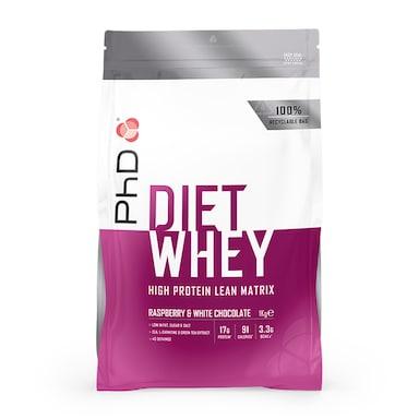 PhD Nutrition Diet Whey Protein Powder Raspberry & White Chocolate 1000g