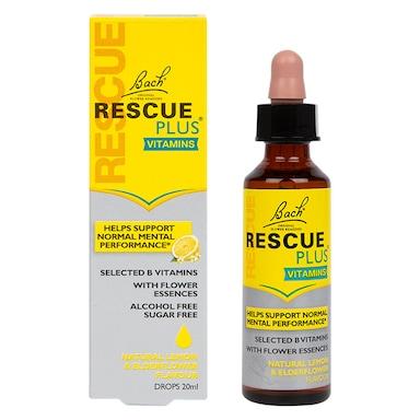 Nelsons Bach Rescue Plus Vitamins Lemon Flavour Drops 20ml