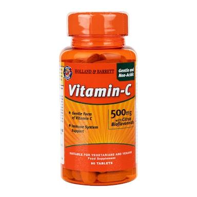 Holland & Barrett Gentle Non-Acidic Vitamin C 90 Tablets