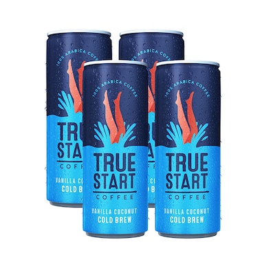 True Start Vanilla Coconut Cold Brew Coffee 4 x 250ml