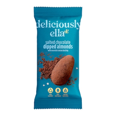 Deliciously Ella Salted Chocolate Dipped Almonds 30g