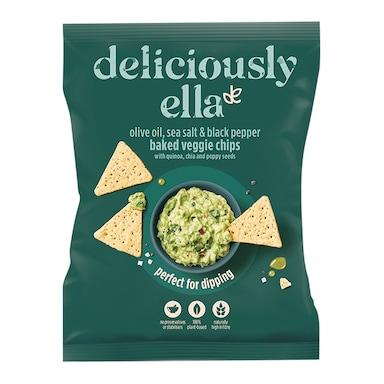 Deliciously Ella Olive, Sea Salt & Black Pepper Baked Veggie Crackers 100g