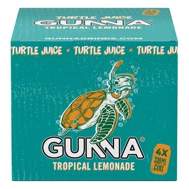 Gunna Turtle Juice Tropical Lemonade 4 x 330ml