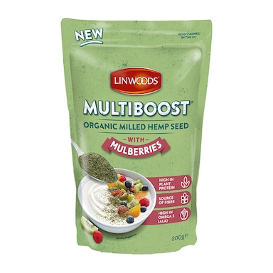 Linwoods Multiboost Organic Milled Hemp Seed with Mulberry 200g