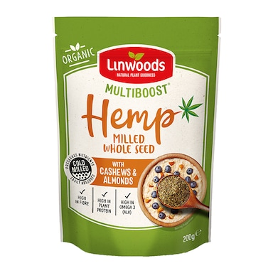 Linwoods Multiboost Organic Milled Hemp Seed with Mixed Nuts 200g