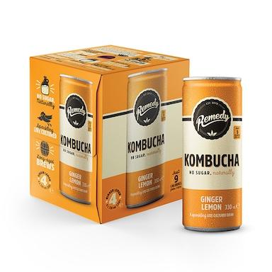 Remedy Kombucha Ginger Lemon 4 x 330ml