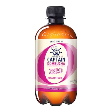The GUTsy Captain Kombucha Passion Fruit Zero Passionfruit 400ml