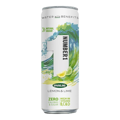 Number1 Vitamin Water Sparkling Lemon & Lime 250ml