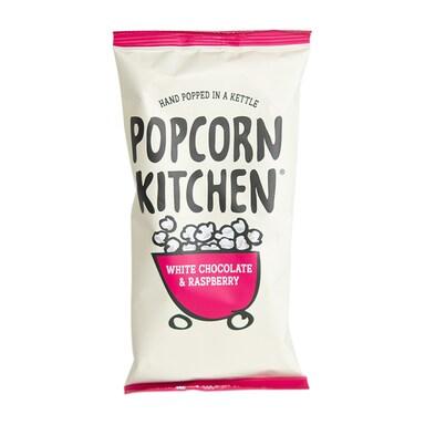 Popcorn Kitchen White Chocolate & Raspberry Popcorn Sharing Pack 100g