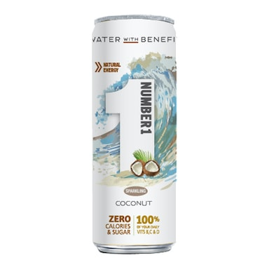 Number1 Vitamin Water Sparkling Coconut 250ml