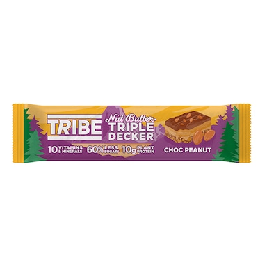 TRIBE Nut Butter Triple Decker Chocolate Peanut Butter Bar 40g