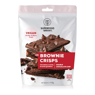 Superfood Bakery Brownie Crisps Double Choc Chip 110g