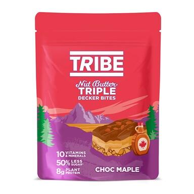 TRIBE Nut Butter Triple Decker Bites Chocolate Maple Sharing Bag 93g