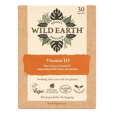 Wild Earth Vitamin D3 30 Capsules
