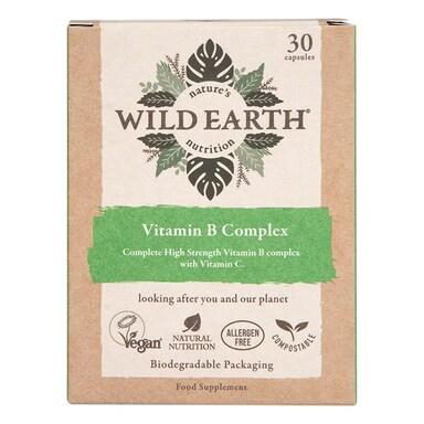 Wild Earth Vegan Vitamin B Complex 30 Capsules