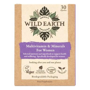 Wild Earth Multivitamin & Minerals For Women 30 Capsules