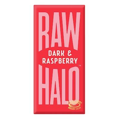 Raw Halo Vegan Dark & Raspberry Raw Chocolate 70g