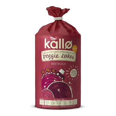 Kallo Beetroot and Balsamic Veggie Cakes 122g