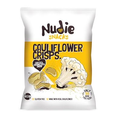 Nudie Snacks Cauliflower Crisps Vegan Cheese & Caramelised Onion 22g