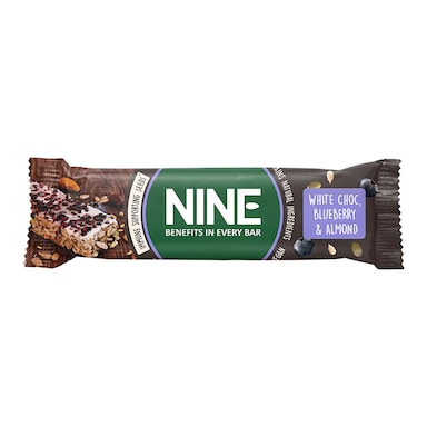 NINE White Chocolate, Blueberry & Almond Bar 40g
