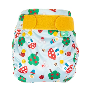 TotsBots Easyfit Star All in One Reusable Nappy - Mushroom Town