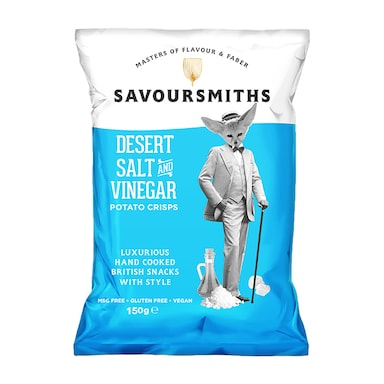 Savoursmiths Desert Salt & Vinegar Luxury English Potato Crisps 150g