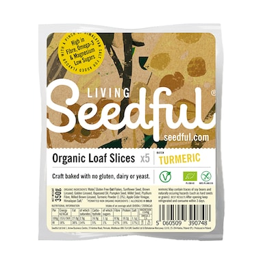 Seedful Organic Gluten Free Turmeric Loaf Slices 350g
