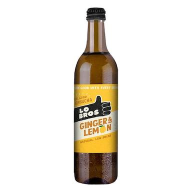 Lo Bros Organic Kombucha Ginger & Lemon 750ml
