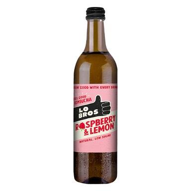 Lo Bros Organic Kombucha Raspberry & Lemon 750ml