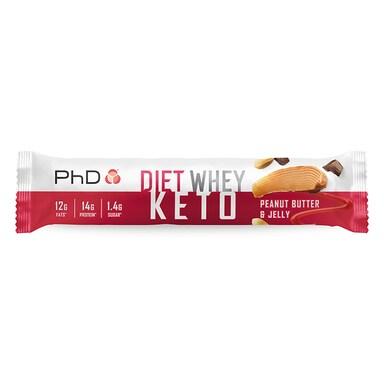 PhD Nutrition Diet whey Keto Bar Peanut Butter & Jelly 50g