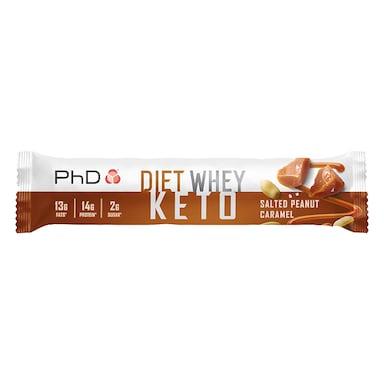 PhD Nutrition Diet Whey Keto Bar Salted Peanut Caramel 50g